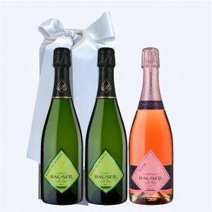 Champagne BAUSER Cofanetto da 3 BOTTIGLIE