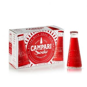CAMPARI SODA 10 cl. vetro a perdere - Scatole da 10 bottiglie