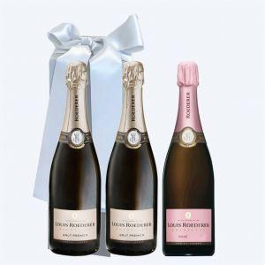 Champagne LOUIS ROEDERER Cofanetto da 3 BOTTIGLIE
