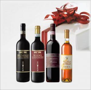 Toscana confezione BONACCHI da 4 BOTTIGLIE
