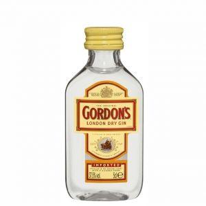 12 mignon GORDONS LONDON GIN Dry 5 cl.