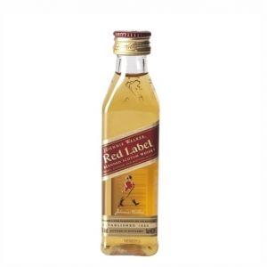 12 mignon JOHNNIE WALKER RED Whisky 5 cl.