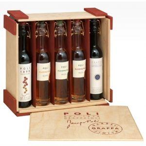 GRAPPE BABY BARREL 5 bottiglie nel legno JACOPO POLI