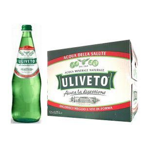 ACQUA ULIVETO NATURALE 75 cl. vetro a perdere - Scatole da 12 bottiglie